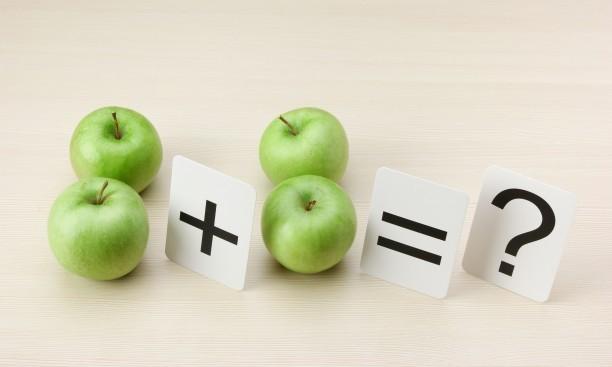 Matematik. 2 æbler + 2 æbler = ?