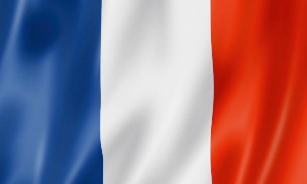 Fransk flag. Fransk flag i farverne Blå, hvid og rød